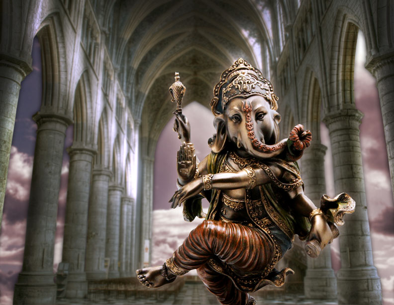 Sky Temple - Ganesha. Photoshop composite from 2012