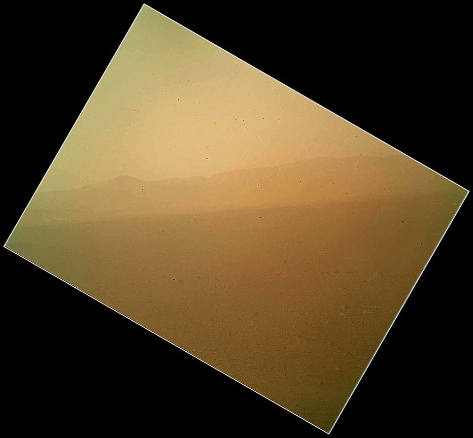 Curiosity's first color image.